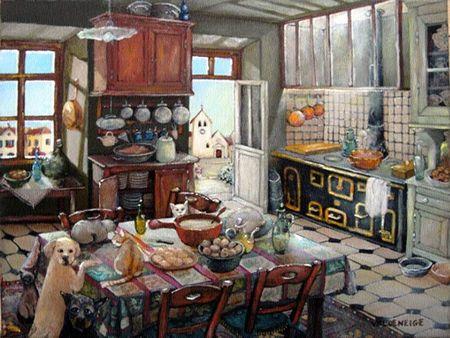 Curtains Ideas cat curtains kitchen : Monique Valdeneige. La maison sans rideaux (house without curtains ...