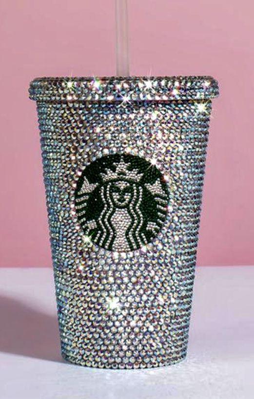 Starbucks Cup Personalized, Starbucks Tumbler, Swarovski Ab