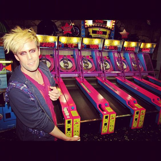 Justin Tranter - Semi Precious Weapons. I loved playing this arcade game when we went to San Francisco