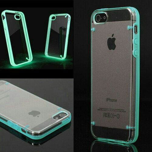 iphone 5s cool cases luminous style glow bumper skin back cover for 1813
