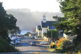 Oh how I love this view as you drive into the village of Mendocino.