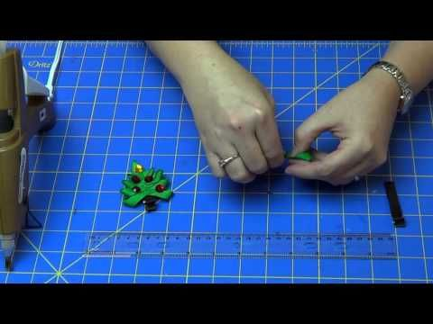 How To Make A Christmas Tree Hair Clip