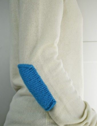 Knit Elbow Patches | The Purl Bee