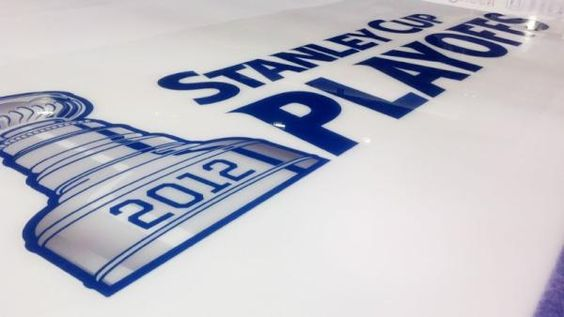 The ice at the Scottrade center getting ready for the playoffs!!!