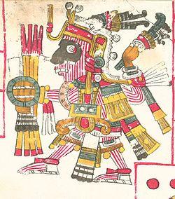 Mixcóatl é o deus mexica das tempestades e da caça. O nome Mixcōātl em náuatle significa 'Serpente nuvem' (mix- 'nuvem' + cōā-tl'serpente'). Os antigos mexicanos criam que a Via Látea era uma representação de Mixcoātl existe outra classe de Mixcoatl chamado Iztac Mixcoatl um velho deus celeste parecido com Ometéotl.O deus asteca Mixcoatl, no códice Telleriano-Remensis