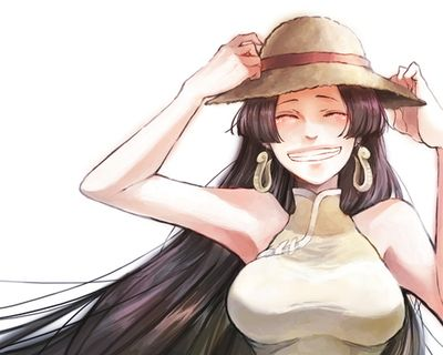 Boa Hancock and Luffy's straw hat #one piece: