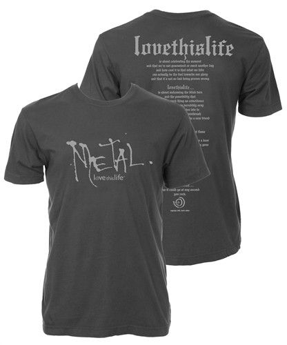 "Men's ""Metal Manifesto"" S/S: Asphalt (Final Markdown - No Exchange Or Return)"