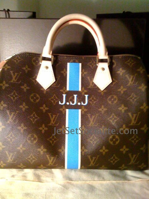 Now LV is even in on the personalization , you can get your bags sent to Paris and have them monogrammed.