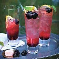Blackberry-Ginger Sour Highballs
