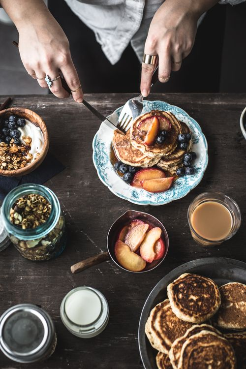 Sunday Morning Breakfast or Brunch! Are you having a sweet moment like this? Share yours today, follow the links in the desсription! #breakfast #pancakes #yummy: