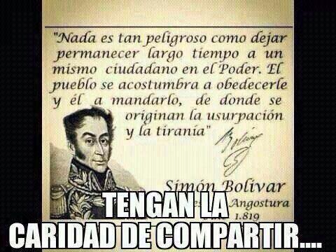 Ya pasaron más de 200 años y Simón Bolivar vio que van a existir personas que dañaran este País