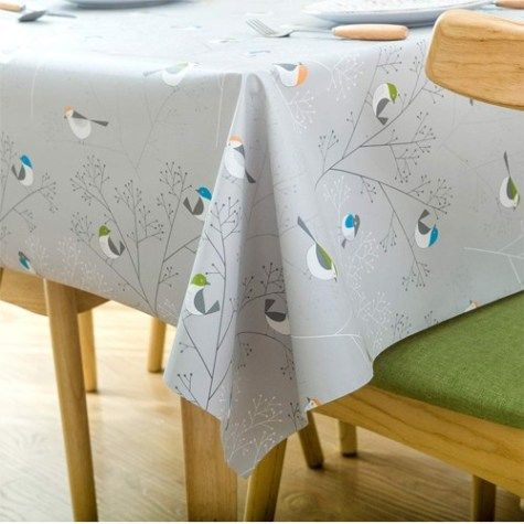 LOHASCASA Rectangle Vinyl Tablecloth Wipeable Oil-Proof Waterproof PVC Heavy 54