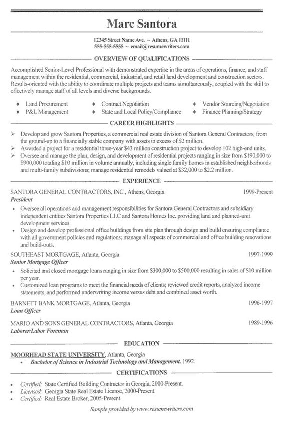 onebuckresume resume layout resume examples resume builder resume - real estate specialist sample resume