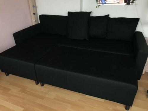 Schwarzes Sofa Von Ikea Als Schlafsofa Moglich Mit Stauraum In