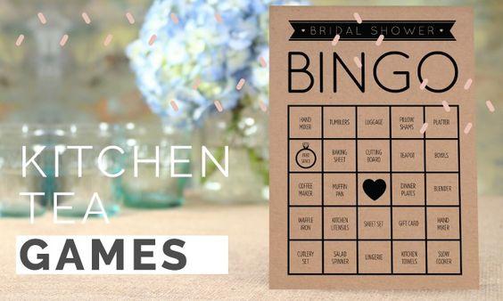 Games For Kitchen Tea Bridal Shower Kitchen Tea Games Bridal Shower Activities And Bridal