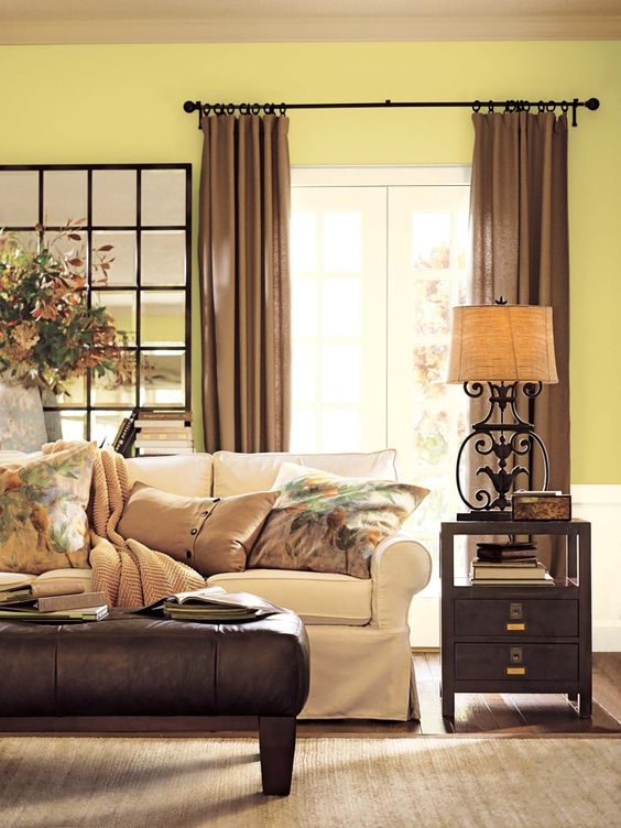 benjamin moore green living room - light beige-green walls, light ...