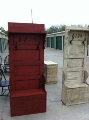 Entry way coat storage made from old door fabulous finds of denton tx