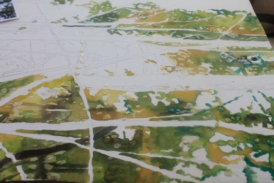 painting with wet in wet colors