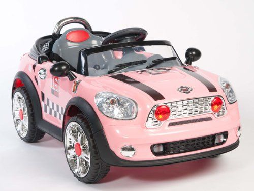 mini cooper ride on car power wheel kids w mp3 remote power control rc pink big motors new upgraded with 2 motors 6v 10ah battery new upgraded