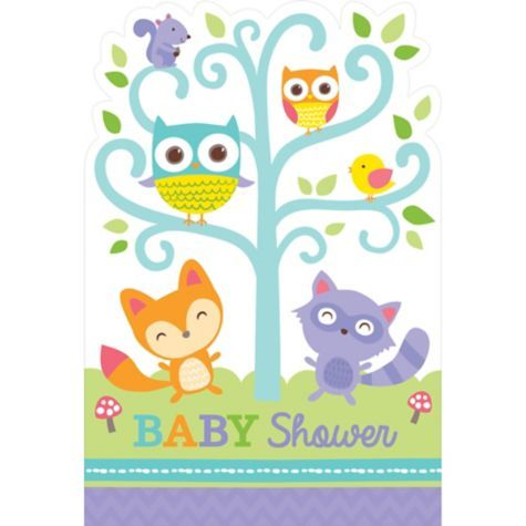 Baby Shower Invitations 8ct - Woodland - Party City
