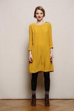 Robe en soie, Jupe plissée, Robe femme - Des Petits Hauts