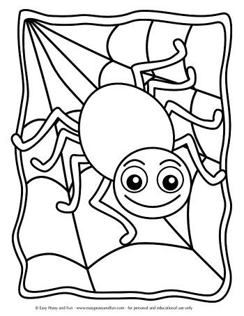 Halloween Coloring Pages Easy Peasy And Fun Spider Coloring Page Halloween Coloring Pictures Halloween Coloring