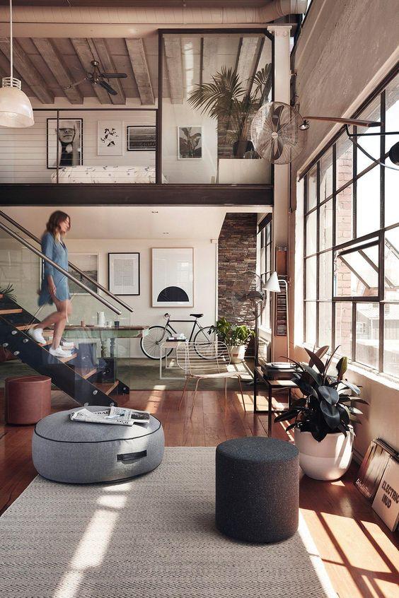 loft new york weiße innenarchitektur