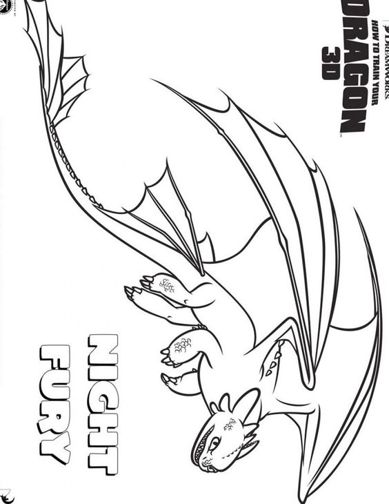How to Train Your Dragon coloring page | My little family ...