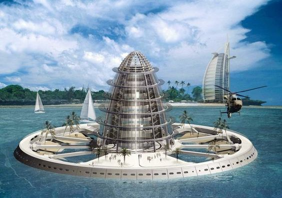Pictures: Floating Cities of the Future Waterscraper: