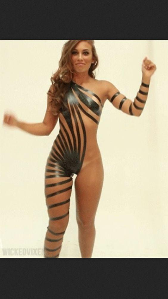 Electical tape bikini