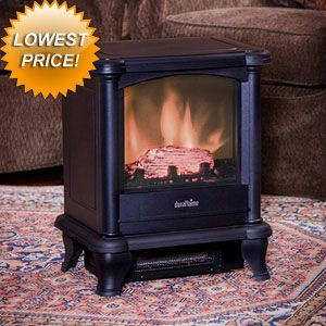 Duraflame 450 Black Electric Fireplace Stove - $129 and free shipping!