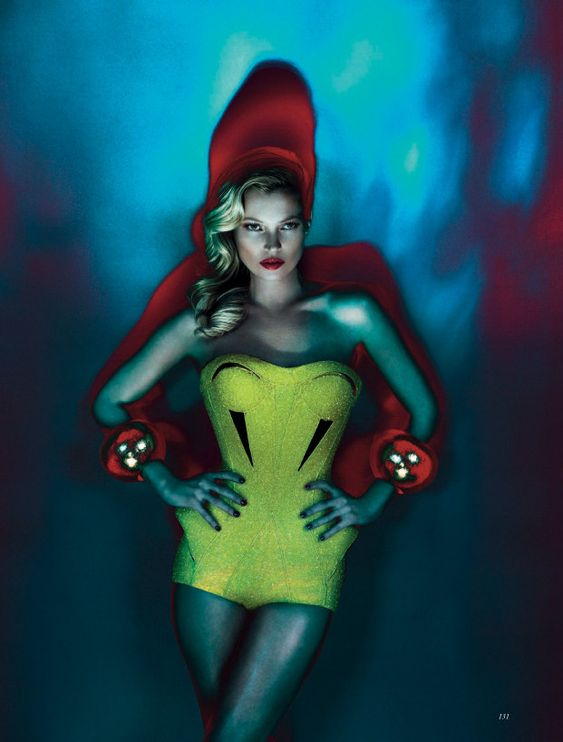 Kate Moss is photographed by Mert Alas & Marcus Piggott in 'Mighty Aphrodite' for the June 2012 issue of British Vogue
