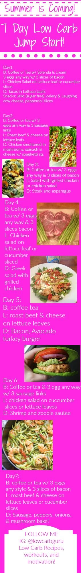 Low Carb Meal Plan Go to www.thelowcarbguru.com to get your monthly menu plans and recipes!
