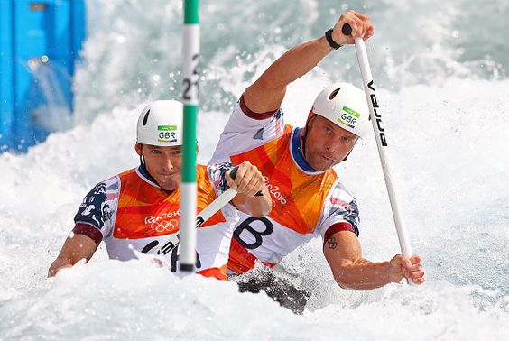 David Florence and Richard Hounslow, canoe slalom double (c2) - silver medalist