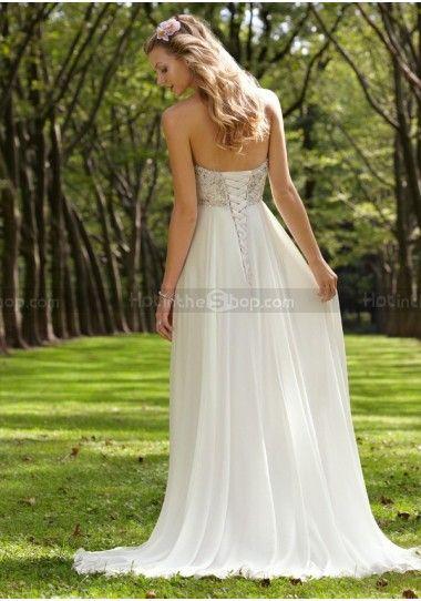 Cheap A-line Beach Wedding Dresses Fashion Design