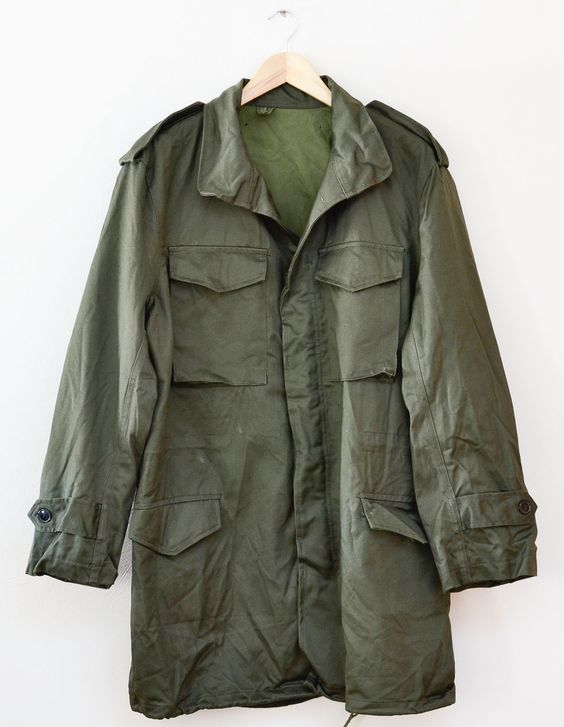 Details about Vintage Army Surplus Green Military Army Parka ...