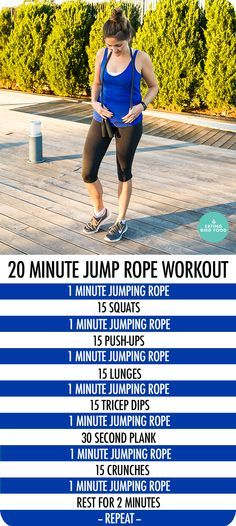 20 Minute Jump Rope Workout that combines cardio and toning