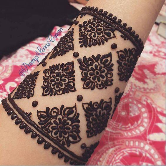 Henna Cuff Www Jamilahhennacreations Com: Henna Cuff Design