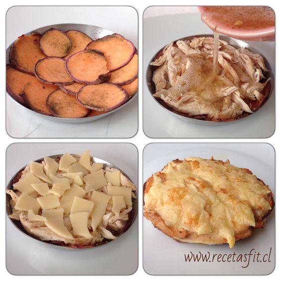 Tartaleta tipo quiche, sin masa super rapido y delicioso, detalle en www.recetasfit.cl