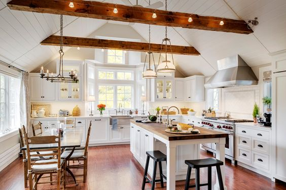 Swapping the kitchen and living room in a Massachusetts home yielded a dramatically better flow of the first-floor living space