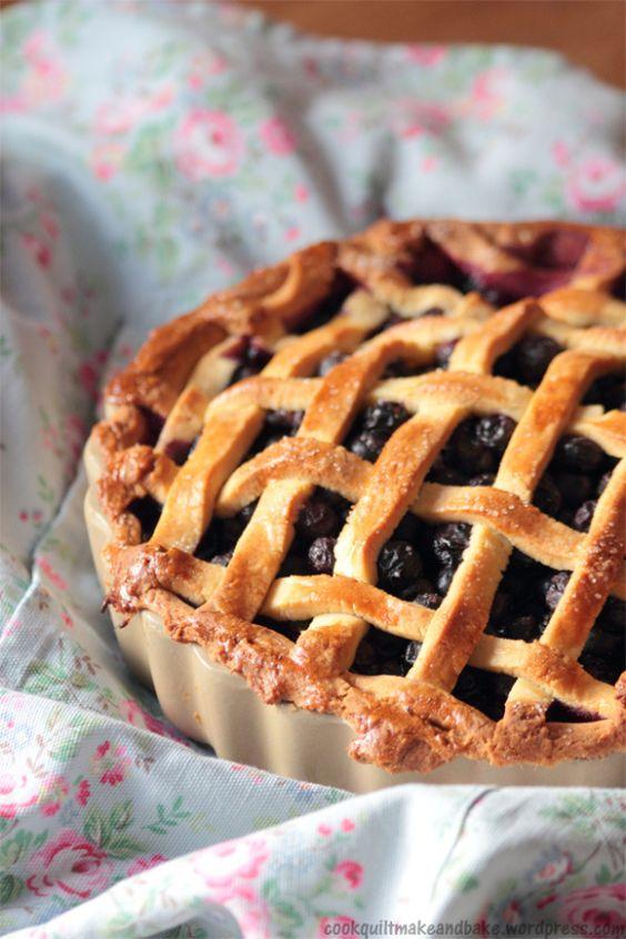 Deep Dish Blueberry Pie