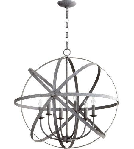 500 Quorum International Celeste 6 Light Chandelier in Zinc 6009-6-17 #lightingnewyork #lny #lighting