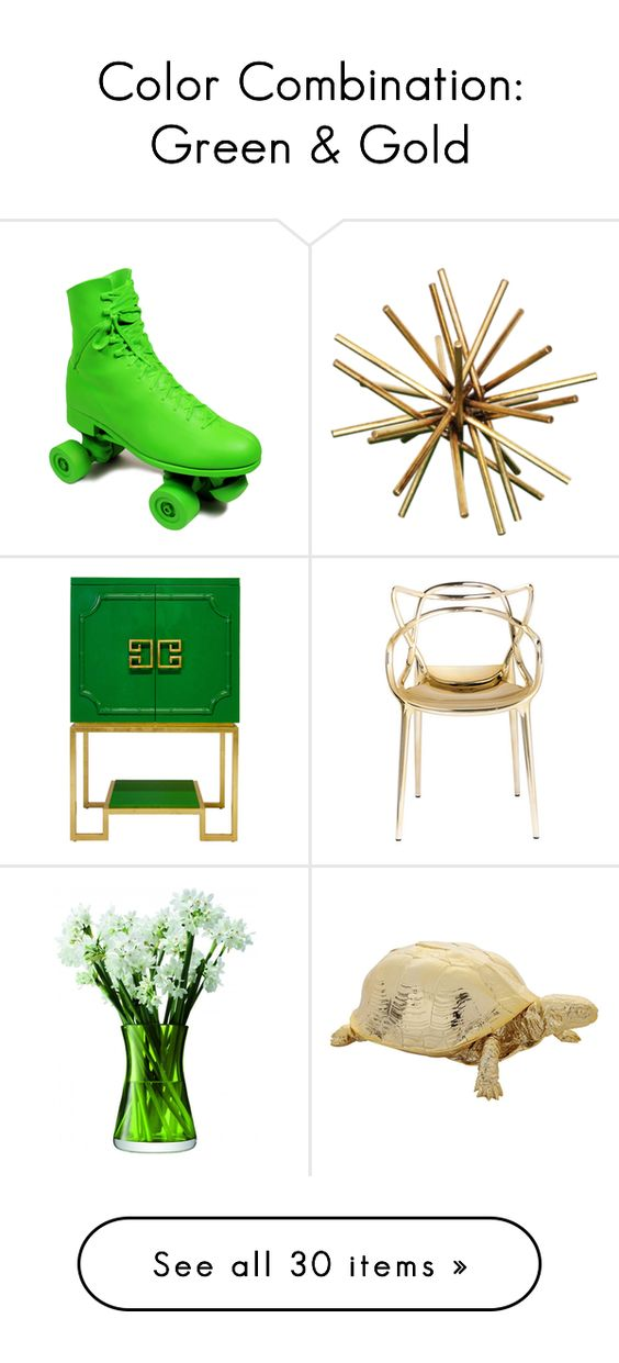 Color combination green gold by polyvore editorial on - Best combination with green ...
