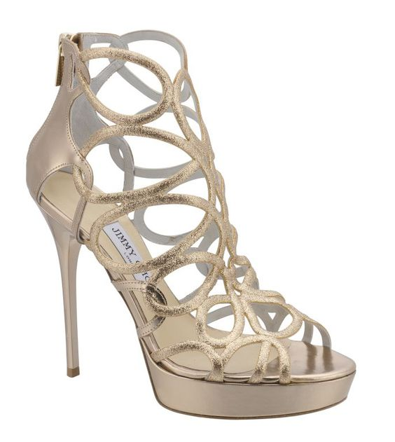 Jimmy Choo's Cruise 2013 Collection. Blast in fine glitter mirror leather.