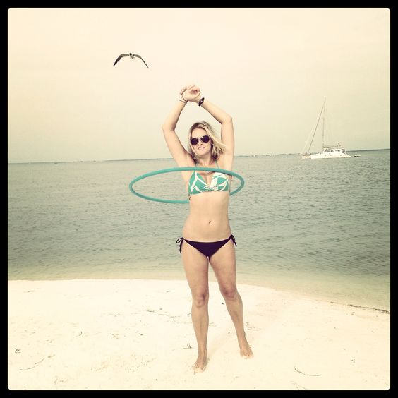 Getting some hoop time at the sandbar