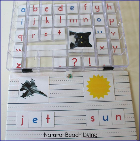 Montessori Moveable Alphabet, Language Arts, Preschool, Toddler, Montessori Materials, Kids activities, Free Printables, phonics www.naturalbeachliving.com: