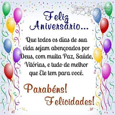 Feliz aniversário, felicidades sempre