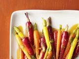 Coriander glazed (rainbow) carrots