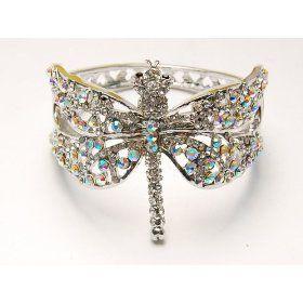 Crystal Prism Dragonfly Cuff