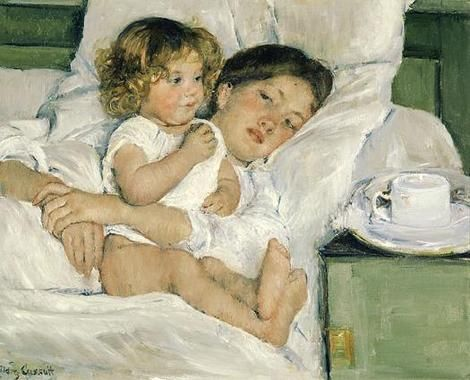 Mary Cassatt, **Breakfast in Bed ** 1897 on ArtStack #mary-cassatt #art